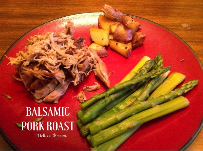 balsamic dressing, balsamic pork roast, pork roast, dinner recipe