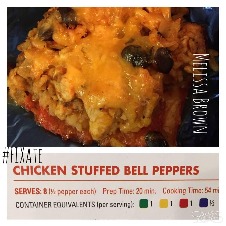 FIXate, dinner recipe, chicken stuffed bell peppers