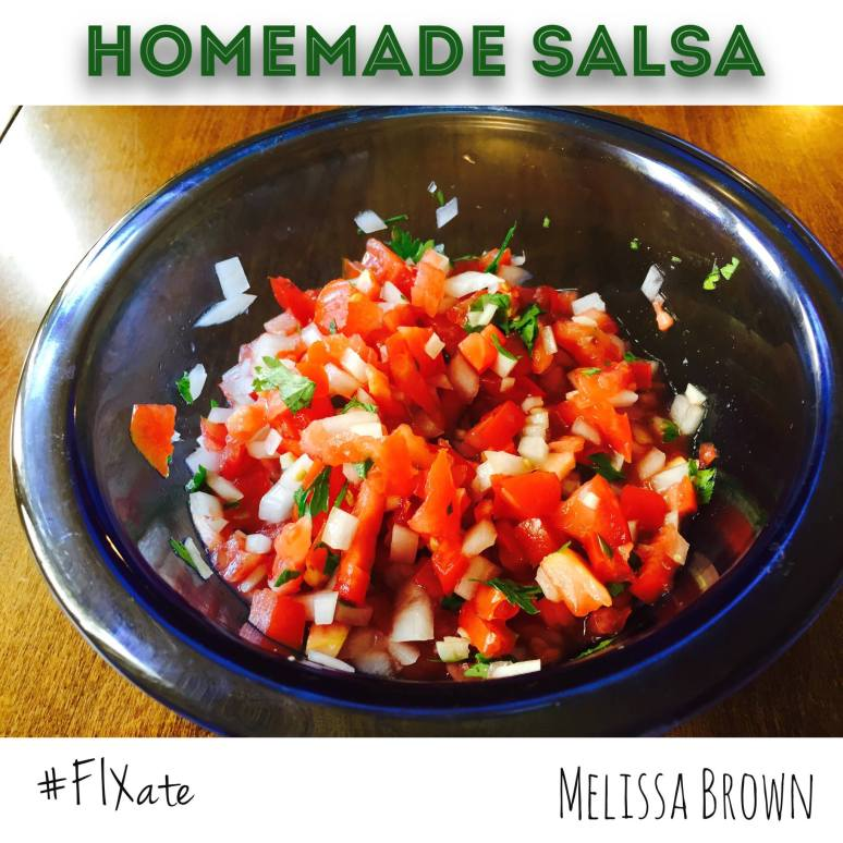 Fixate, side recipe, homemade salsa