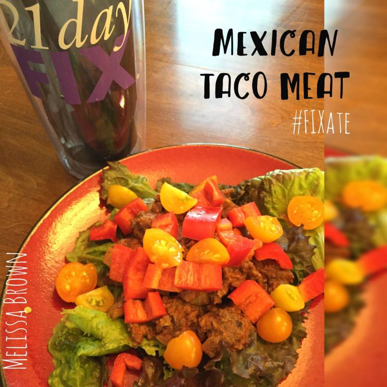 Fixate, Mexican taco meat, dinner recipe