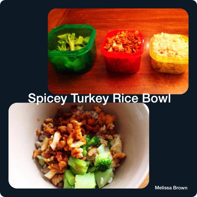 Spicey Turkey Rice Bowl