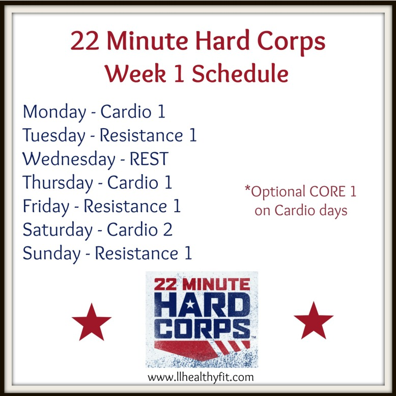 22 minute hard corps, fitness program, cardio, abs, resistance