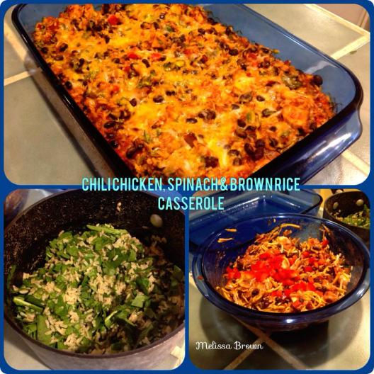 Chili Chicken, Spinach and Rice Casserole
