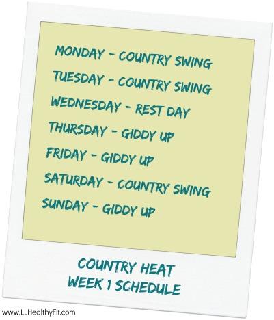 Country Heat - Week 1 Schedule