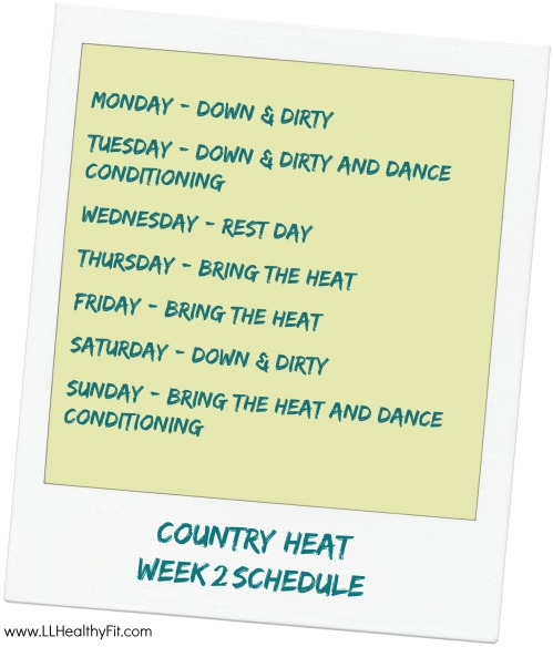 Country Heat - Week 2 Schedule
