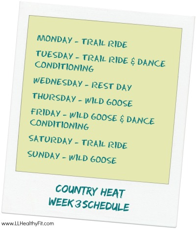 Country Heat - Week 3 Schedule