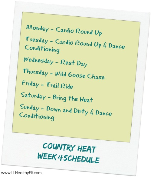 Country Heat - Week 4 Schedule