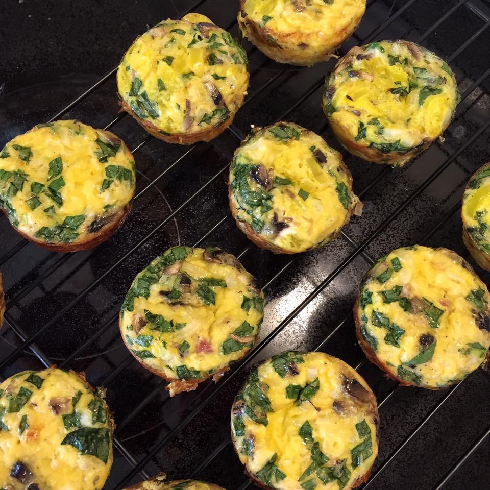 Ham and Veggie Egg Muffins-6