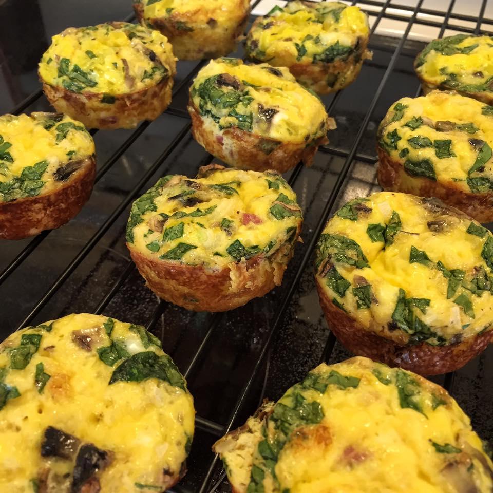 Ham and Veggie Egg Muffins-7
