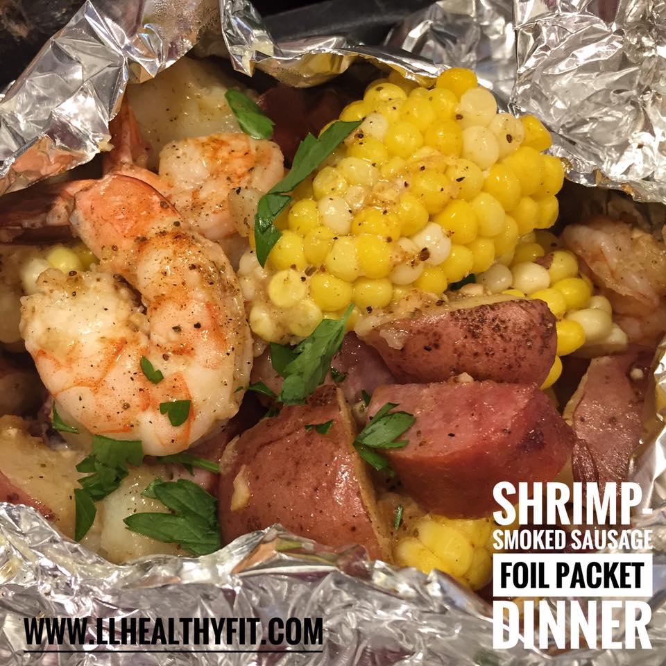 Shrimp-Smoked Sausage Foil Packet-7